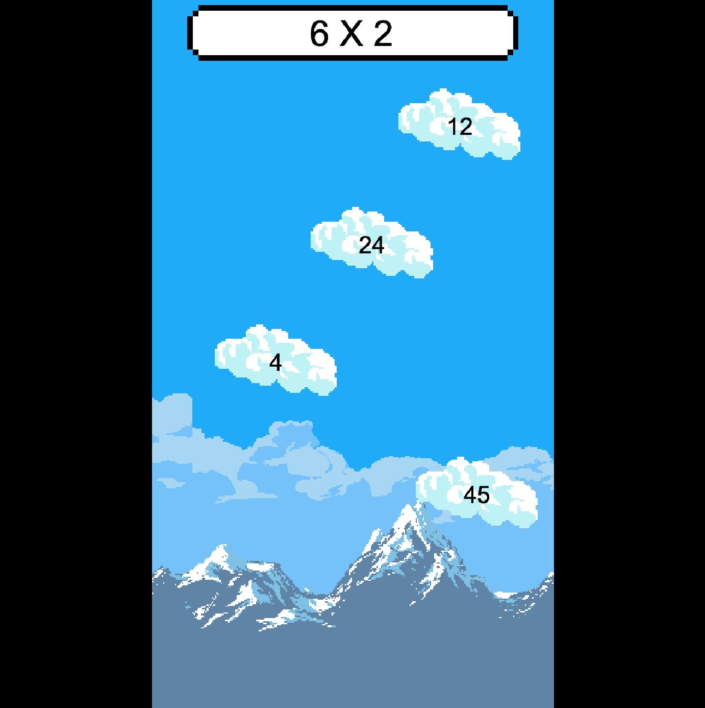 פוקסי – משחק לתירגול לוח הכפל – עננים