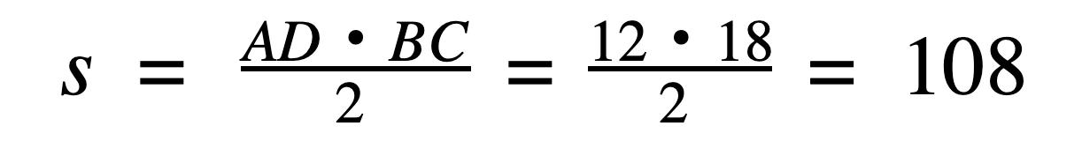 נוסחא לחישוב שטח משולש שווה צלעות