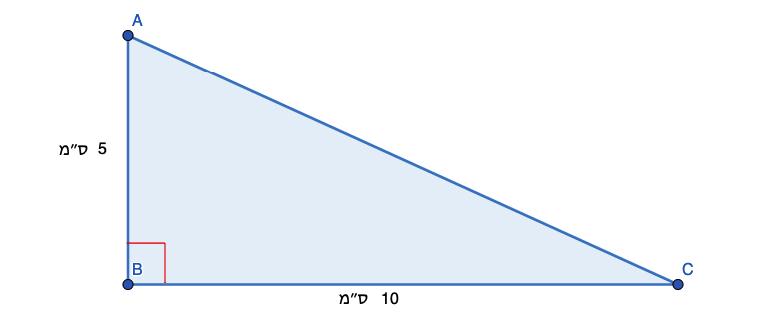 איך מחשבים שטח משולש ישר זווית