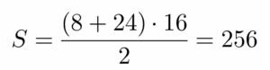 חישוב שטח טרפז ישר זווית - שאלה 2 - שלב 1