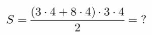 חישוב שטח טרפז ישר זווית - שאלה 4 - שלב 1