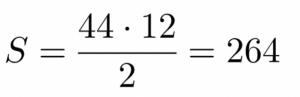 חישוב שטח טרפז ישר זווית - שאלה 4 - שלב 3