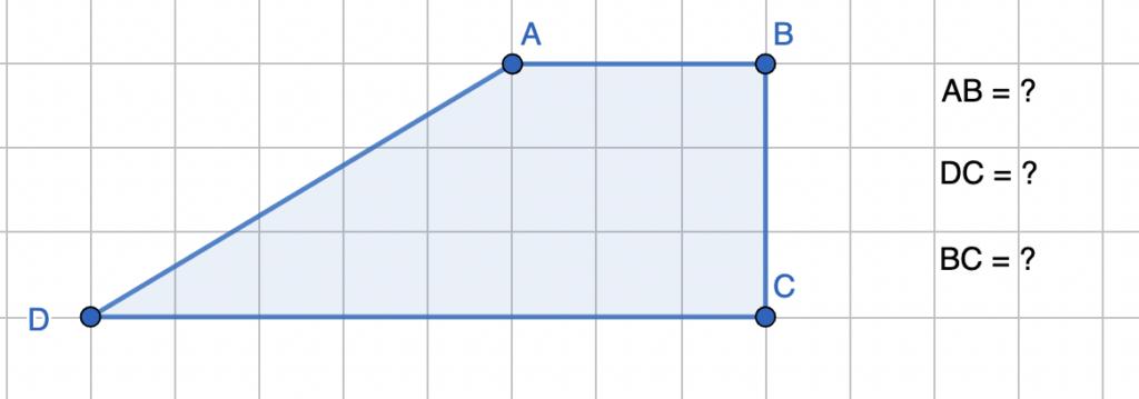 חישוב שטח טרפז ישר זווית - שאלה 4