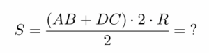 חישוב שטח טרפז ישר זווית - שאלה 5 - שלב 1