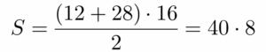 חישוב שטח טרפז ישר זווית - שאלה 5 - שלב 2