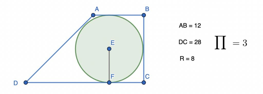 חישוב שטח טרפז ישר זווית - שאלה 5 - למתקדמים