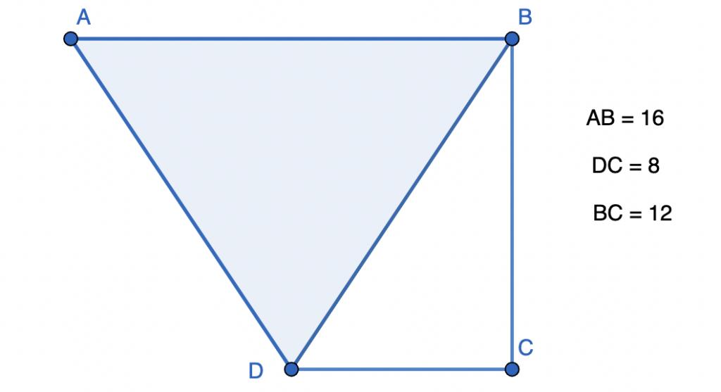 חישוב שטח טרפז - שאלה 6