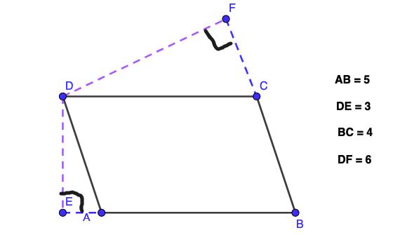 חישוב שטח מקבילית תרגיל 2