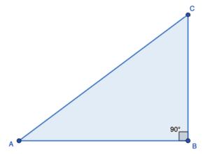 פיתגורס משולש ישר זוית- שאלה 1